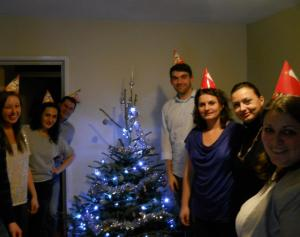 Celebrating Christmas and Raluca's birthday at Alex and Doru's