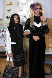 Viorel in traditional dress and Aurica in drag