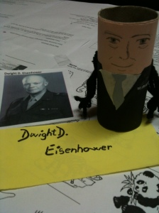 Paula's Eisenhower.. She's great with faces!  Make sure to look for her Clinton in the following pictures!