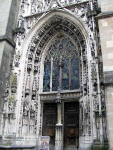 Entrance to the Lausanne Cathedral