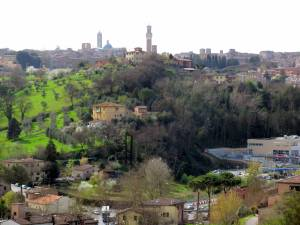 The view of Siena from our window