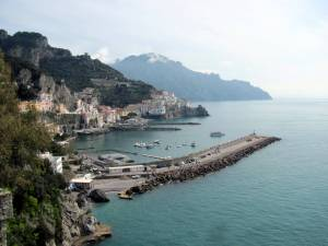 Amalfi and the harbor