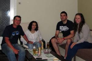 Last night hanging out the 4 of us